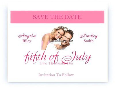 50 Personalized Custom Photo Wedding Bridal Save The Date Cards  - Custom Save The Dates