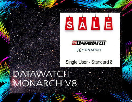 Monarch V8 Datawatch / Software / For Windows / Disc / New