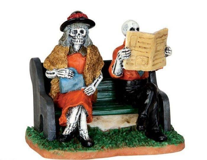 Lemax Spooky Town REALLY LATE TRAIN #42205 NRFP Halloween Village Skeleton Acc *