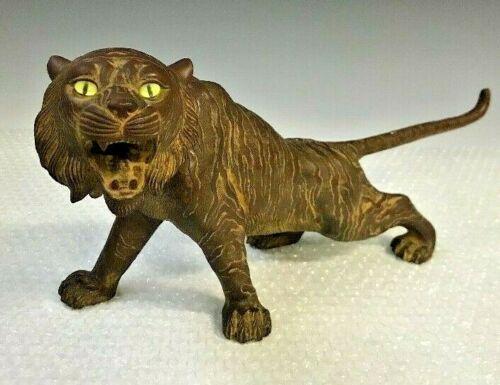 Tiger Bronze Statues Japanese Antique Sculpture Okimono Figurine Meiji Japan 2