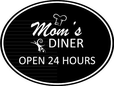 Moms Diner Kitchen  Vinyl Wall Home Decor Decal Quote Home Inspirational  Cute (Moms Kitchen Wall)