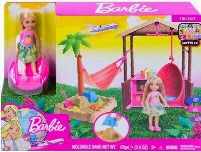Barbie Dreamhouse Chelsea Tiki Hut Playset W/Moldable Sand!