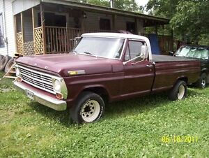 1968 ford f250 2wd bc truck mvid up for trades!!