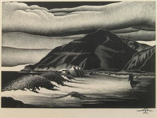 Paul Landacre : Campers : 1939-40 : Archival Quality Art Print