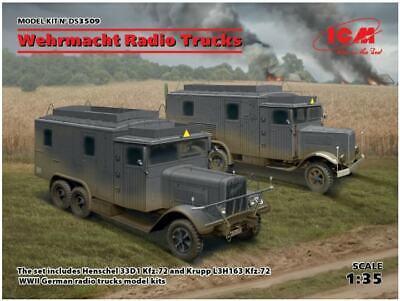 ICM DS3509 1:35 Wehrmacht Radio Trucks Henschel 33D1 Kfz.72 & Krupp L3H163 Kfz72