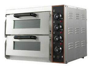 NEW Commercial Pizza Oven Double Deck Electric Stone Base 2x16
