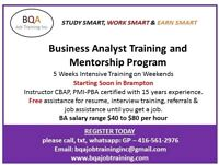BUSINESS ANLAYST TRAINING AND MENTORING PROGRAM STARTING SOON
