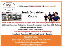 JOIN TRUCK DISPATCHER COURSE ON WEEK DAYS & WEEKENDS