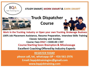 DO DISPATCHER COURSE STARTING SOON IN BRAMPTON