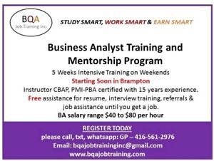 EARN $40-80/PER HOUR - JOIN BUSINESS ANALYST COURSE ON WEEKENDS