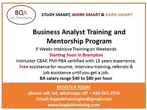BUSINESS ANALYST TRAINING & MENTORING  PROGRAM -5 AUG START