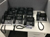 10 YEALINK SIP-T46G ULTRA-ELEGANT GIGABIT IP TELEPHONES.