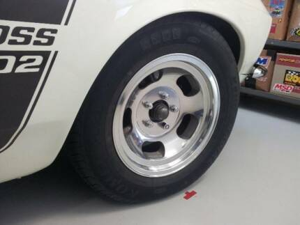 "Vintage 5 Slot Kidney Mag Rim Wheels 15"" inch x 7"" inch Barden Ridge Sutherland Area Preview"