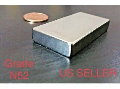 4 Large Neodymium N52 Block Magnet Super Strong Rare Earth 2 X 1 X 14