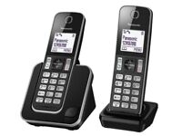 Panasonic Cordless Home Phone with Nuisance Call Blocker Pack of 2