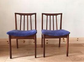 Pair of solid teak chairs