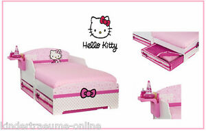 sanrio hello kitty bett kinderbett juniorbett 2 bettk sten regal 70cm x 140cm ebay. Black Bedroom Furniture Sets. Home Design Ideas