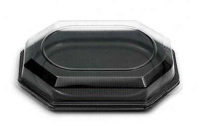 chwarz inkl. DECKEL 350x250x80mm Partyplatten Servierplatten (Catering-trays)