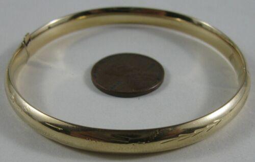 Vintage 14K Solid Gold Fancy Bangle Gold Bracelet 9.1gm