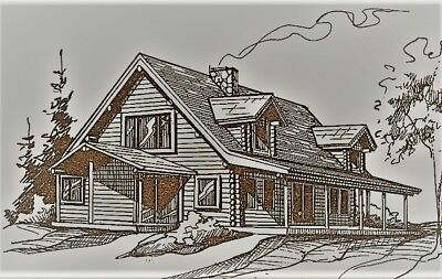 LOG CABIN HOME shell kit logs 1960 sq.ft Free delivery in - Home Kits