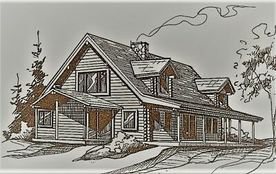 LOG CABIN HOME shell kit logs 1960 sq.ft Free delivery in Utah!