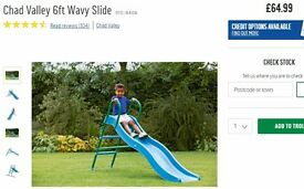 Children's 6 foot wavy slide