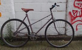 Single speed vintage bike RALEIGH frame 20inch built BY US NEW SADDLE, CHAIN, BAR, GRIPS - WARRANTY