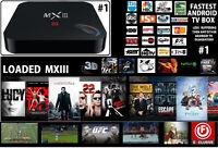 MX III Android TV Box Quad Core 4K Octa Core With Kodi (Loaded)
