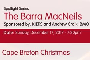 Looking for 2 tickets to Barra MacNeils Christmas