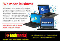 Business Grade Refurb Laptops from 249, PCs from $209
