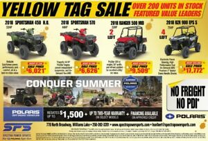 SPECTRA POWER SPORTS YELLOW TAG SALE!