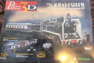 the orient express from the 20's 3d puzzle