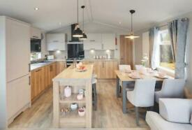 2 bed Luxury Lodge with wrap around decking and Pitch Fees - Call James on