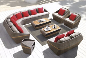 END of Season SALE: HIGH-END Wicker Rattan SOFA sets!