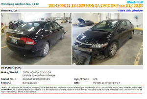 Manitoba Insurance Car Auction