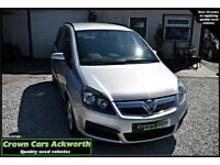 Vauxhall Zafira 1.6i 16v 5 DOOR SILVER 2007 MODEL + EXCELLENT VALUE 7 SEATER+