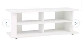 Brand new white tv unit
