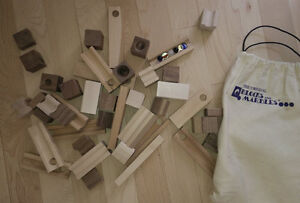 Wooden blocks for marble race ('Original Blocks and Marbles')