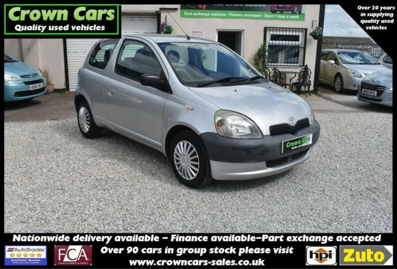 Toyota Yaris 1.0 16v VVTi 2001MY GS 3 DOOR SILVER 2003 MODEL