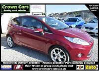 Ford Fiesta 1.6 3 DOOR Titanium RED 2010 MODEL +RARE FULL LEATHER TRIM+