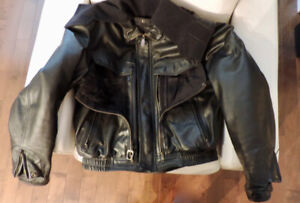 Mens Leather FIRSTGEAR size 46 motorcycle jacket