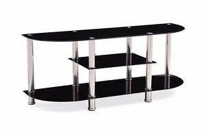 """TV STAND 55"""" tempered glass"""