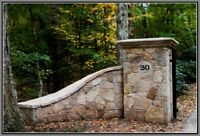 driveway column and wingwall price