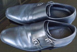 ECCO Shock Point Men Double Buckle Monk Strap Leather Shoes S-40