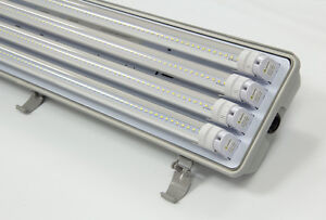 LED T8 4ft 4 bulb Tri-Proof Fixtures Kitchener / Waterloo Kitchener Area image 2