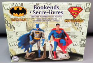Batman Superman Statue Bookends DC Comics (not Action Figure)