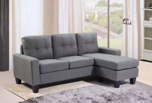 BRAND NEW LIGHT GREY L-SHAPE SOFA INCLUDED DELIVERY ASSEMBLY