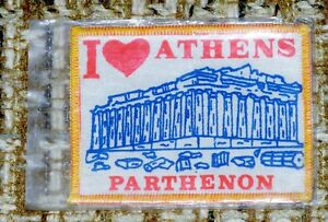 I Love Athens Parthenon Badge 4 X 3 Inches