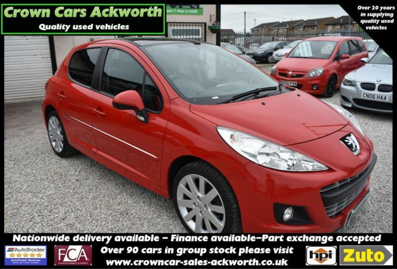 Peugeot 207 16HDi 92 FAP Allure RED 2011 MODEL GENUINE VERY LOW MILEAGE Ackworth