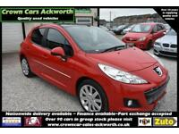 Peugeot 207 1.6HDi 92 FAP Allure RED 2011 MODEL +GENUINE VERY LOW MILEAGE+
